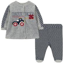 Велюровый костюм на флисе 2 в 1 для мальчика оптом (код товара: 44113)