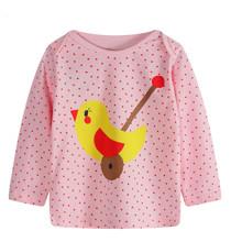 Лонгслив для девочки Цыпленок оптом (код товара: 44205)