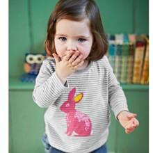 Лонгслив для девочки Кролик (код товара: 44203)