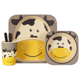 Набор посуды из бамбукового волокна Коровка (код товара: 44379): купить в Berni