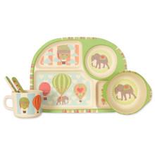 Набор посуды из бамбукового волокна Летающий слон (код товара: 44391)