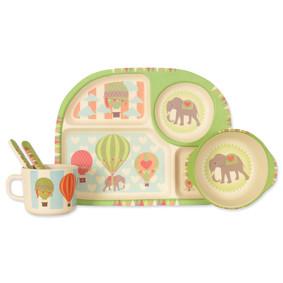 Набор посуды из бамбукового волокна Летающий слон (код товара: 44391): купить в Berni