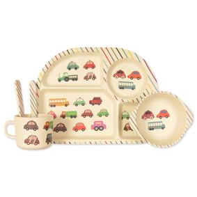 Набор посуды из бамбукового волокна Машины (код товара: 44393): купить в Berni