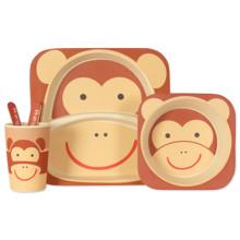 Набор посуды из бамбукового волокна Обезьяна (код товара: 44376)