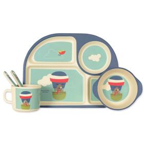 Набор посуды из бамбукового волокна Пес летчик (код товара: 44387): купить в Berni