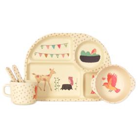 Набор посуды из бамбукового волокна Счастливые животные (код товара: 44384): купить в Berni