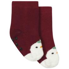 Детские антискользящие носки с начесом Снеговик (код товара: 44483)