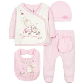 Комплект 5 в 1 для новорожденной девочки (код товара: 44410): купить в Berni