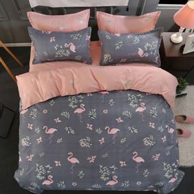 Уценка (дефекты)! Комплект постельного белья Фламинго (полуторный) оптом (код товара: 44492): купить в Berni