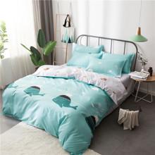 Уценка (дефекты)! Комплект постельного белья Кит и слон (двуспальный-евро) (код товара: 44463)
