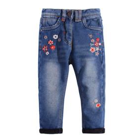Джинсы утепленные для девочки Цветы оптом (код товара: 44679): купить в Berni