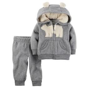 Флисовый костюм 2 в 1 Медведь, серый (код товара: 44691): купить в Berni