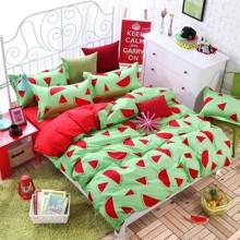 Комплект постельного белья Арбуз (двуспальный-евро) (код товара: 44732)