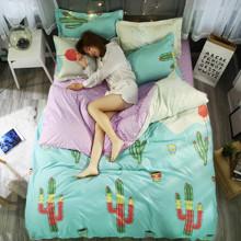 Комплект постельного белья Кактусы (двуспальный-евро) (код товара: 44718)