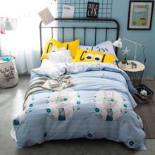 Комплект постельного белья Кролик в венке (двуспальный-евро) (код товара: 44746)