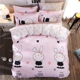 Комплект постельного белья Любовь кролика (двуспальный-евро) (код товара: 44734): купить в Berni