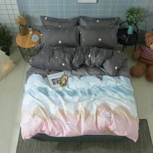 Комплект постельного белья Облака (двуспальный-евро) (код товара: 44740)