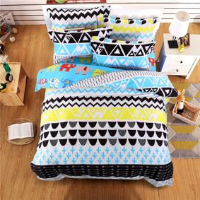 Комплект постельного белья Слоны (двуспальный-евро)  (код товара: 44730): купить в Berni