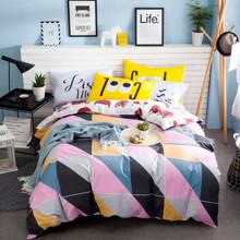 Комплект постельного белья Треугольники и кошки (двуспальный-евро) (код товара: 44745)