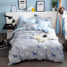 Комплект постельного белья Звездный единорог (двуспальный-евро) (код товара: 44748)