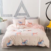 Комплект постельного белья Единорог (полуторный) (код товара: 44851)