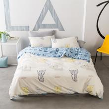 Комплект постельного белья Мяу (двуспальный-евро) (код товара: 44850)