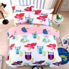Комплект постельного белья Совы (двуспальный-евро) (код товара: 44817)