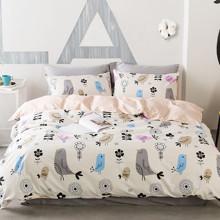 Комплект постільної білизни Ніжні птахи (двоспальний-євро) (код товара: 44848)