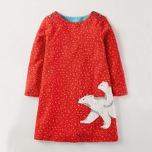 Платье для девочки Полярные медведи (код товара: 44856)