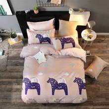 Уценка (дефекты)! Комплект постельного белья Пегас (двуспальный-евро) (код товара: 44887)
