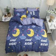 Уценка (дефекты)! Комплект постельного белья Спокойной ночи (двуспальный-евро) (код товара: 44878)