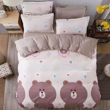 Уценка (пятна)! Комплект постельного белья Бурый медведь (полуторный) (код товара: 44891)
