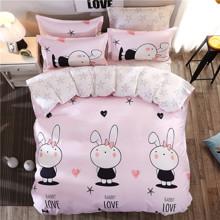 Уцінка (дефекти)! Комплект постільної білизни Кохання кролика (полуторний) (код товара: 44885)