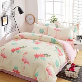 Комплект постельного белья Большие фламинго (полуторный) (код товара: 44924): купить в Berni