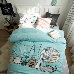 Комплект постельного белья У каждого дома есть кошка (полуторный) (код товара: 44963): купить в Berni