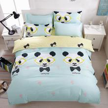 Комплект постельного белья Я люблю панду (двуспальный-евро) (код товара: 44999)
