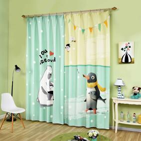 Штора Полярный медведь и пингвин 135 х 265 2 шт. (код товара: 44943): купить в Berni