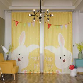 Штора Счастливый кролик 135 х 265 2 шт. (код товара: 44950): купить в Berni