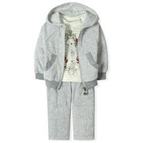 Велюровый костюм 3 в 1 для девочки Estella (код товара: 4519): купить в Berni