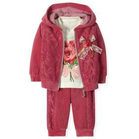 Велюровый костюм 3 в 1 для девочки Estella (код товара: 4520): купить в Berni