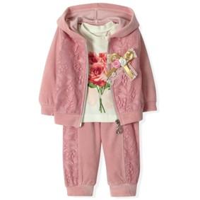 Велюровый костюм 3 в 1 для девочки Estella (код товара: 4522): купить в Berni