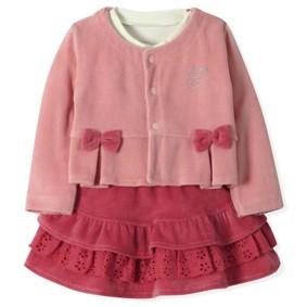 Велюровый костюм 3 в 1 для девочки Estella (код товара: 4524): купить в Berni