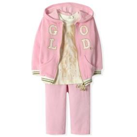 Велюровый костюм 3 в 1 для девочки Estella (код товара: 4525): купить в Berni
