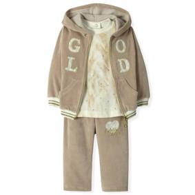 Велюровый костюм 3 в 1 для девочки Estella (код товара: 4526): купить в Berni