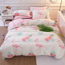 Комплект постельного белья Большой фламинго (двуспальный-евро) (код товара: 45051)