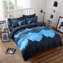 Комплект постельного белья Горная ночь (двуспальный-евро) (код товара: 45028)