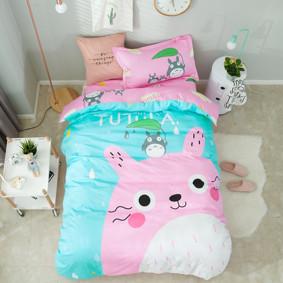 Комплект постельного белья Кролик Тоторо (полуторный) (код товара: 45074): купить в Berni