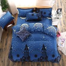 Комплект постельного белья Ночной город (двуспальный-евро) (код товара: 45020)