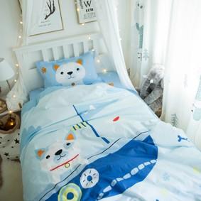 Комплект постельного белья Пес в лодке (полуторный) (код товара: 45065): купить в Berni