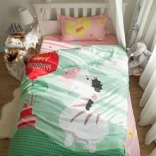 Комплект постельного белья С днем рождения, Зебра! (полуторный) (код товара: 45066)